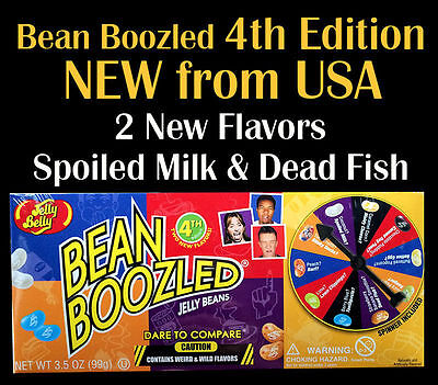 Jelly Belly 4th Edition Bean Boozled Spinner Wheel Game Box -Four edition
