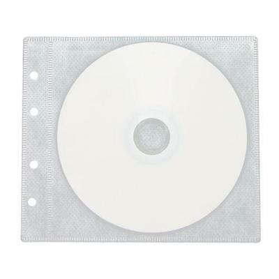 100 White CD DVD Double-Sided 2 Discs Refill Plastic Sleeves