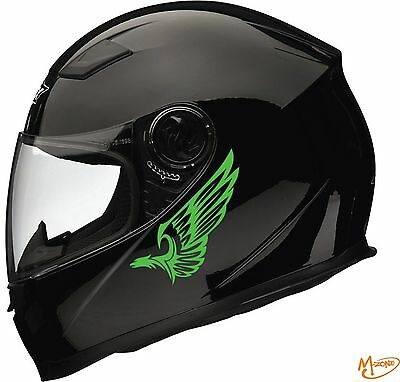 2X EAGLE TRIBAL Reflective Motor Helmet Stickers Decals mirrored pair Best Gift-