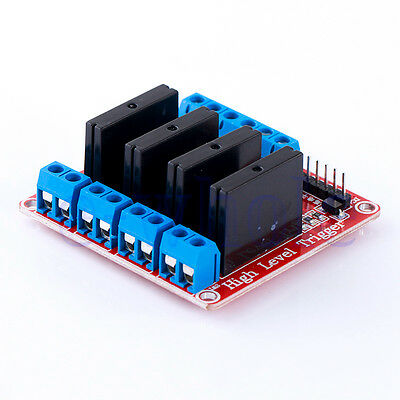 4 Channel SSR Solid State Relay 5V 2A For Arduino UNO R3 2560 Raspberry PI WT