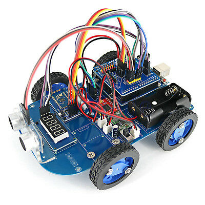 N20 Gear Motor Toy 4WD Bluetooth Smart Robot Car Chassis Kit DIY for Arduino WT