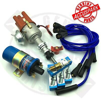FORD PINTO Electronic ignition Distributor + Full overall kit inc Iridium Plugs