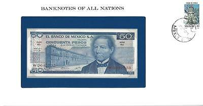 Banknotes of All Nations, Mexico 50 Pesos, 1973, Uncirculated