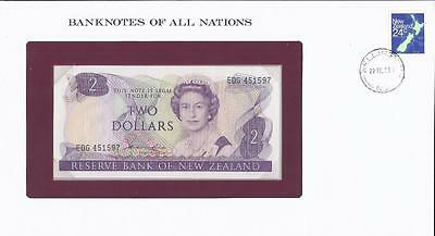 Banknotes of All Nations, New Zealand, $2,1981, P170a, Uncirculated
