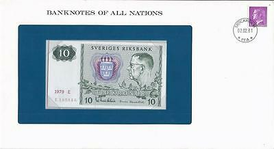 Banknotes of All Nations, Sweden 10 Kronor 1979 P52d, Uncirculated