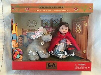 2001 MIB Barbie Baby Sister Kelly LITTLE RED RIDING HOOD NRFB New Storybook
