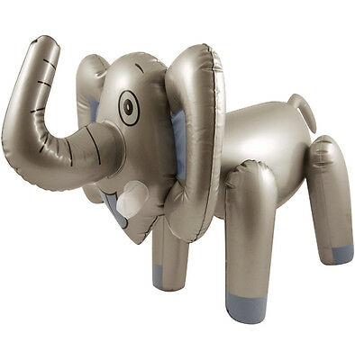 INFLATABLE ELEPHANT 65cm BLOW UP TOY ANIMAL DECORATION