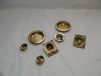 Vintage Bronze, Brass Flush Ring Pulls