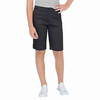 Dickies Junior Black Stretch Bermuda Shorts School Uniforms Sizes 0 to 11