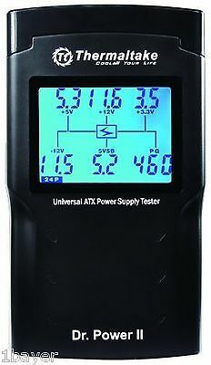 thermaltake Dr. Power Ii Automated Power Supply Tester Oversized Lcd