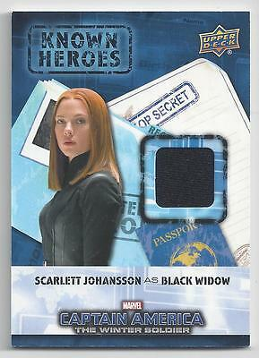 2016 Upper Deck Marvel Civil War Known Heroes Relics Scarlett Johansson