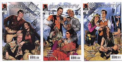 Serenity Better Days #1 2 3 Set Signed By Joss Whedon & Adam Hughes Firefly Sdcc