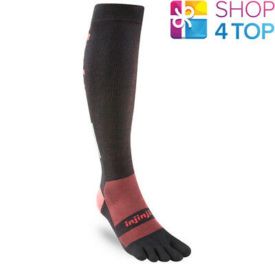 Injinji Compression Ex-Celerator 2.0 Toe Socks Black Over The Calf Performance