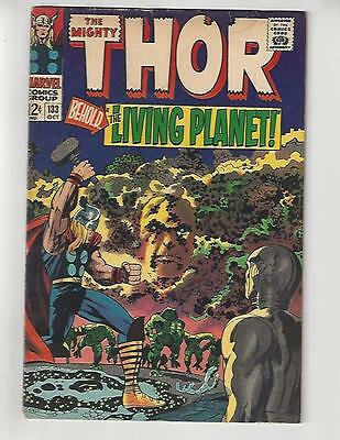 The Mighty Thor #133/Marvel Comic Book/1st Full Ego/Rare Double Cover