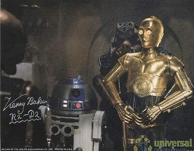 Kenny Baker STAR WARS R2D2 Signed 11x14 Lobby Card PROOF