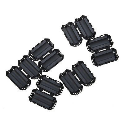 6 x Clip On EMI RFI Noise Ferrite Core Filter for 7mm Cable TS