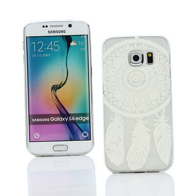 Case + Car Charger for Samsung Galaxy S6 Edge -Clear/White Dreamcatcher