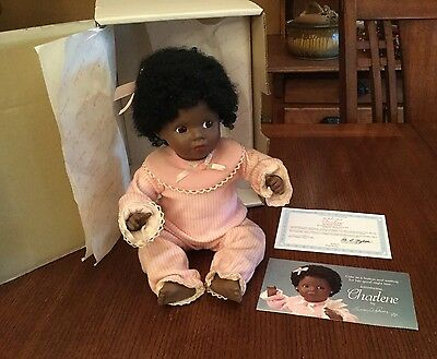 Danbury Mint 'Charlene' by Susan Wakeen African American Baby Doll Porcelain