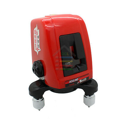 AK435 360 degree Self-leveling Cross Laser Level Red 2 Line 1 Point with Package