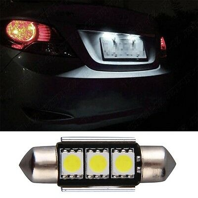 36mm CANBUS Error Free 3 LED 5050 SMD 6418 C5W License Plate Dome Light Bulb YS