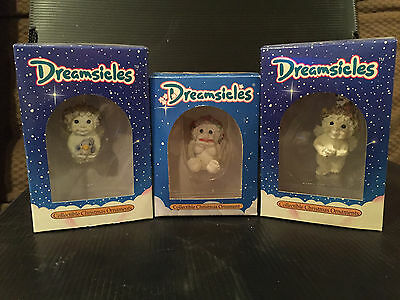 Dreamsicles Lot of 3 Christmas Ornaments IN ORIGINAL BOXES