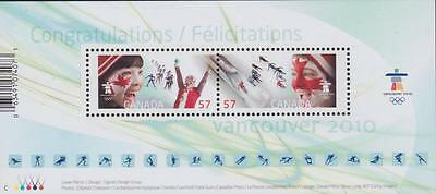 Canada 2010 Souvenir Sheet 2373 - Celebrating the Olympic Spirit