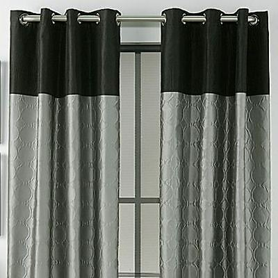 Studio Black and Gray Grommet Panel Curtain 50x92