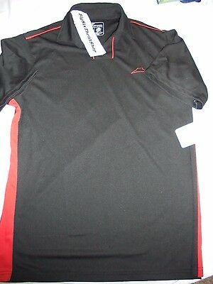 Pizza Hut Employee Polo Golf Black & Red Uniform IQ Apparel Shirt Size Large