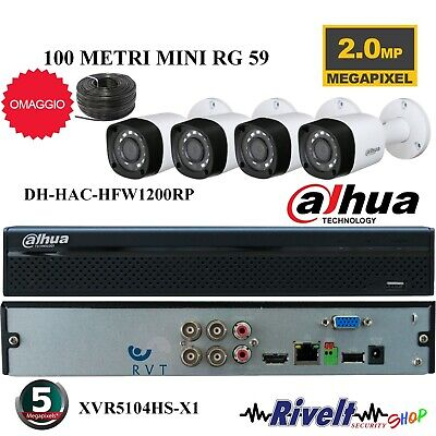 Kit Dvr 4 Canali Completo Top Quality Ahd P2P Hard Disk 500Gb Incluso