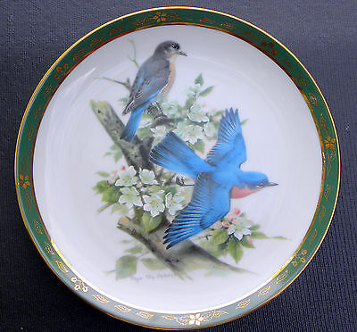 Collector Plate ~ Danbury Mint BLUEBIRDS The Songbirds  of Roger Troy Peterson