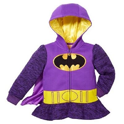 NEW Girl's Batgirl Batman superhero costume Hoodie sweatshirt Shirt 3T 4T 5 6 6X