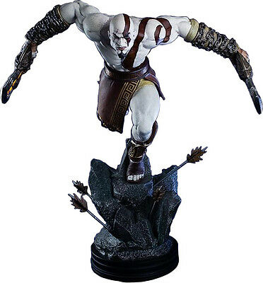 """GOD OF WAR - Lunging Kratos 19"""" Statue (Gaming Heads) #NEW"""