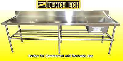 Stainless Steel Commercial sink 2400 x 700 x 900 Right Side