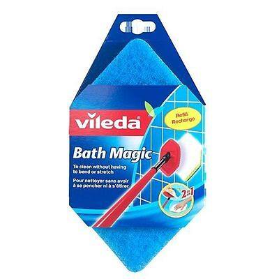 Vileda BATH MAGIC MOP REFILL SPONGE PAD bathroom cleaning scouring replacement