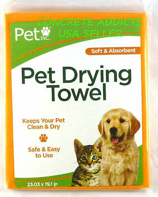 Pet Inc PET DRYING TOWEL Microfiber Drying Towel 23.03 in X 19.1 for cat or dog