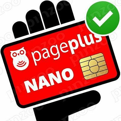 Genuine Page Plus VERIZON 4G LTE NANO SIM Card Kit + Sim Tool Same-Day-Ship
