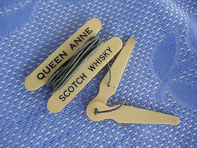 vintage queen anne scotch whisky lawn bowls golf  tape measure