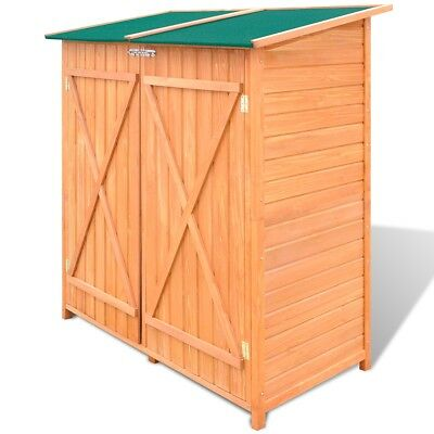 # New Outdoor Wooden Shed Garden Tool Cabinet Storage Room Large 138x65.5x160cm