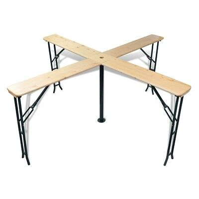 # Outdoor Picnic Beer Table 245cm Wood Dining Coffee Foldable Garden Furniture