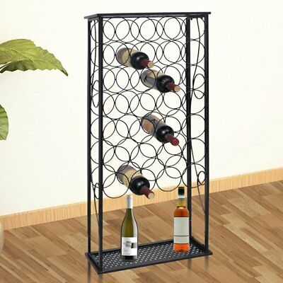 # 28 Bottles 100cm Metal Wine Cabinet Storage Table Rack Holder Home Bar Organis