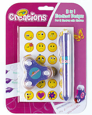 Crayola Creations 3-in-1 Pen and Emoticon Stamper Set