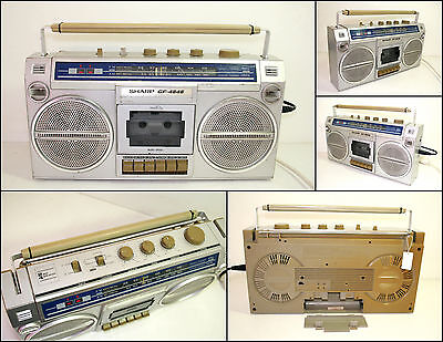 SHARP GF-4646 2 Way 4 Speaker Radio Cassette Boombox