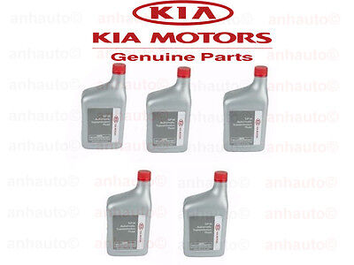 5 Quarts Pack Genuine KIA ATF SPIII Automatic Transmission Oil Fluid kit For KIA