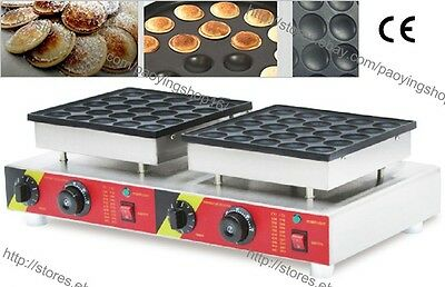 Nonstick 110v 220v Electric 50pcs Poffertjes Mini Dutch Pancake Baker Maker Iron