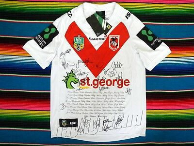 ✺Signed✺ 2016 ST GEORGE ILLAWARRA DRAGONS Heritage NRL Jersey PROOF COA 2017