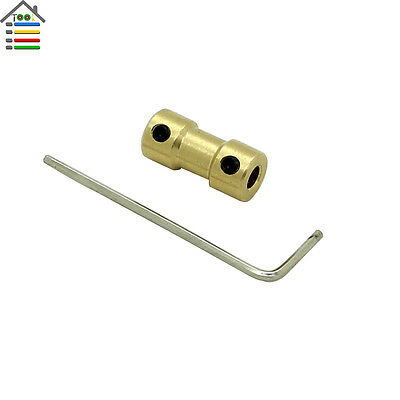 Motor Copper Shaft Coupling Coupler 4-3.17mm Gear Transmission RC Airplane Joint