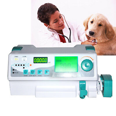 Veterinary vet Injection Infusion Syringe Pump W Alarm KVO+Drug library FDA