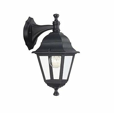 Philips Lima Black Outdoor Up Lantern Wall Light 714260130