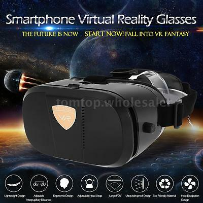 """VR World Case 3D Virtual Reality Glasses Movie Game Headset for Android iOS 4~6"""""""
