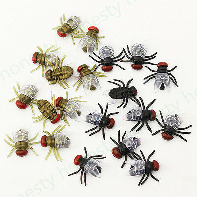 10~50Pcs House Fly Trick Plastic Insect Bugs Kids Toy Halloween Party Bag Filler